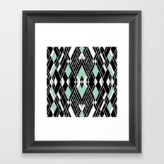 Art Deco Zoom Mint Framed Art Print