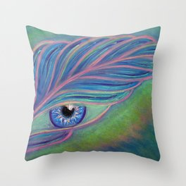 Feather, a Message from the Angels Throw Pillow