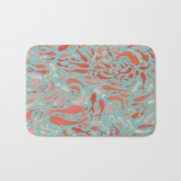 Koi - Coral & Turquoise Bath Mat