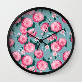 Spring Floral Dream #3 #decor #art #society6 Wall Clock