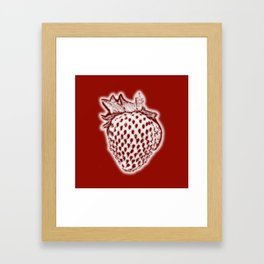 Red Strawberry Framed Art Print