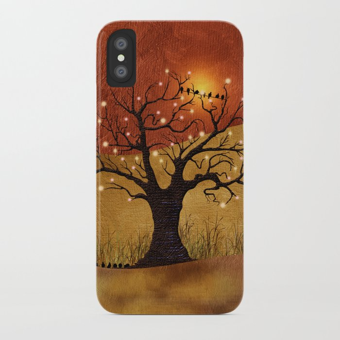 sunset and lights iPhone Case