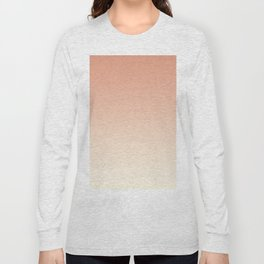 Pratt & Lambert's Color of the Year 2019 Earthen Trail Pink 4-26 and Dover White 33-6 Ombre Gradient Long Sleeve T-shirt