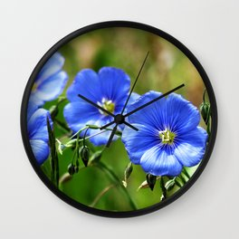 Wildflower Beauties - Blue 1 Wall Clock