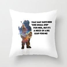 Man on the Moon Throw Pillow