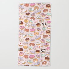 Mmm... Donuts! Beach Towel