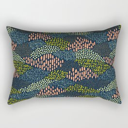 Dashes and dots // abstract pattern Rectangular Pillow