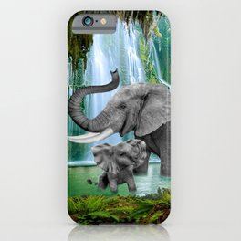 ELEPHANTS OF THE RAIN FOREST iPhone Case