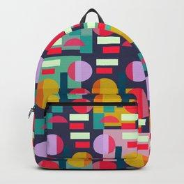 Multicolored geometric abundance Backpack
