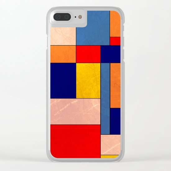 Abstract #340 Clear iPhone Case