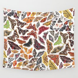 Saturniid Moths of North America Pattern Wall Tapestry