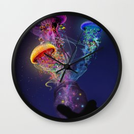 Electric Jellyfish World Released Wall Clock