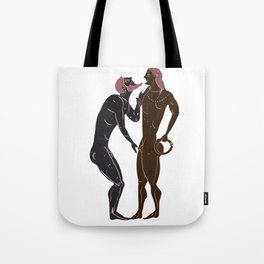 Greek gay rituals Tote Bag