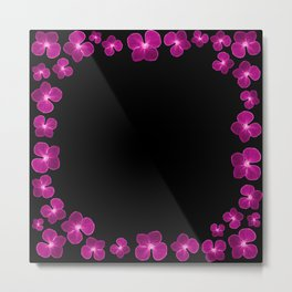 Magenta Flower Chain Metal Print