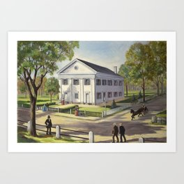 First Normal School by Mary C. Crowley Art Print