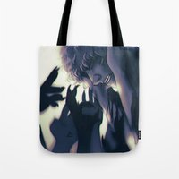 inner demons Tote Bags featuring Demons by Lola Oliveira