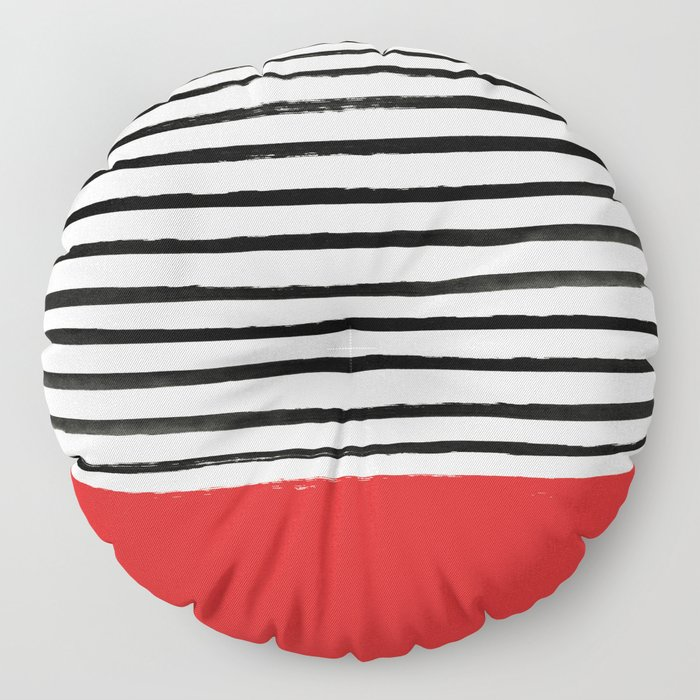 Red Chili x Stripes Floor Pillow
