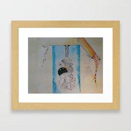 agua y color Framed Art Print