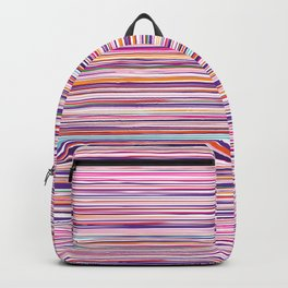 multicolored stripes pattern with leaves Backpack