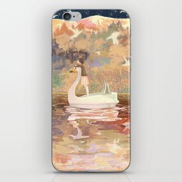 Swan boat iPhone Skin