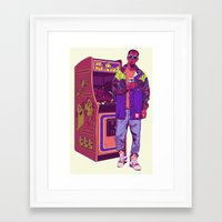 monster Framed Art Prints featuring Monster Arcade by Mike Wrobel