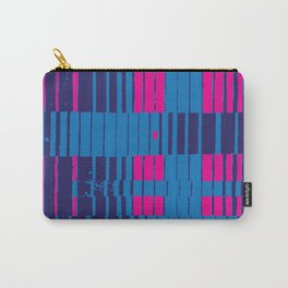 PinkBlue Stripes Carry-All Pouch