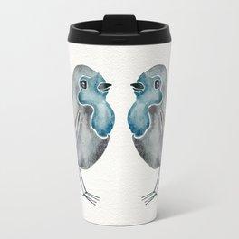Little Blue Birds Travel Mug