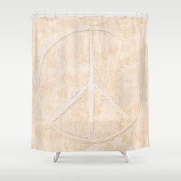 Peace in peach Shower Curtain