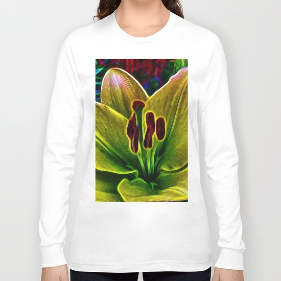 BrightYellow Lily Long Sleeve T-shirt