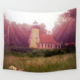 Lighthouse Fog Wall Tapestry