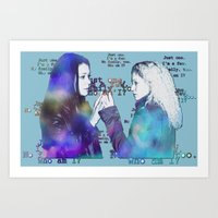 orphan black Art Prints featuring Orphan Black, Who Am I? by Your Friend Elle