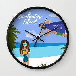 Barbados Trip Wall Clock