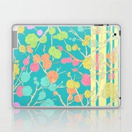 Bright Cherry Blossom Stripe Laptop & iPad Skin