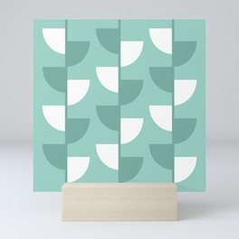 Pastel Green Slices in The Summer Shade Mini Art Print