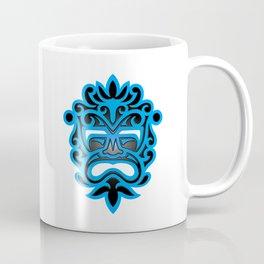 Stylish Blue and Black Mayan Mask Coffee Mug