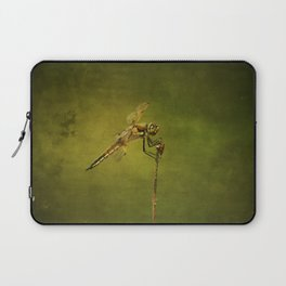 4-Spotted Skimmer Dragonfly Laptop Sleeve