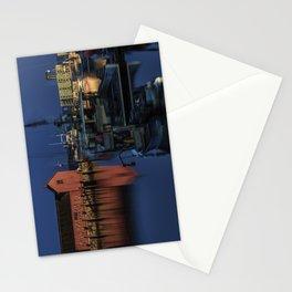 Moonlit Rockport Harbor Stationery Cards