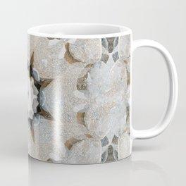 Digital Stone Flower Mandala Tile Neutral Coffee Mug