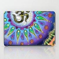 ohm iPad Cases featuring Ohm Mandala  by Kaleidoscopic