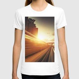 futuristic train T-shirt