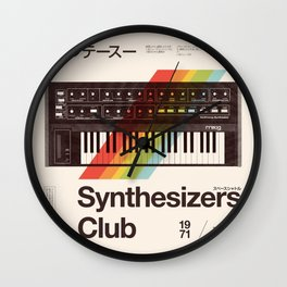 Synthesizers Club Wall Clock