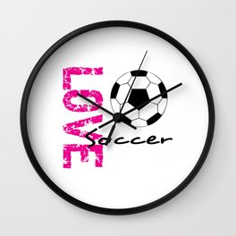 LOVE Soccer Wall Clock