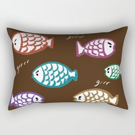 Angry Fish Rectangular Pillow