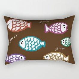 Angry Fish Rectangular Pillow