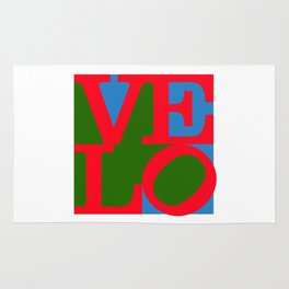 Velo Love – Logo – June 12th – 200th Birthday of the Bicycle Rug
