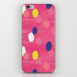 Spotty Pink iPhone Skin