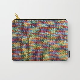 Rainbow Knit Fabric Carry-All Pouch