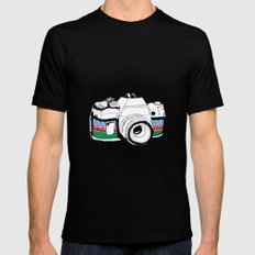 Camera Black X-LARGE Mens Fitted Tee
