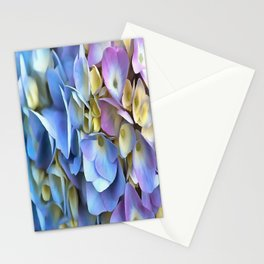 Blue and Pink Hydrangea Flowers  Stationery Cards