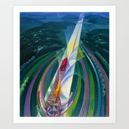 The Speed to Space (Space Rocket Launch) by Gerardo Dottori Art Print